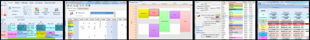 Gestion du personnel écrans de différentes fonction du logiciel de planning sodeasoft